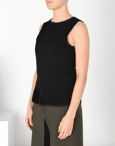 MM6 MAISON MARGIELA Draped twill top Top D f