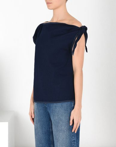 MM6 MAISON MARGIELA Top D Asymmetric denim top f
