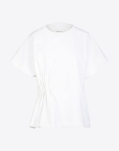 MAISON MARGIELA Short sleeve t-shirt D Gathered cotton T-shirt f