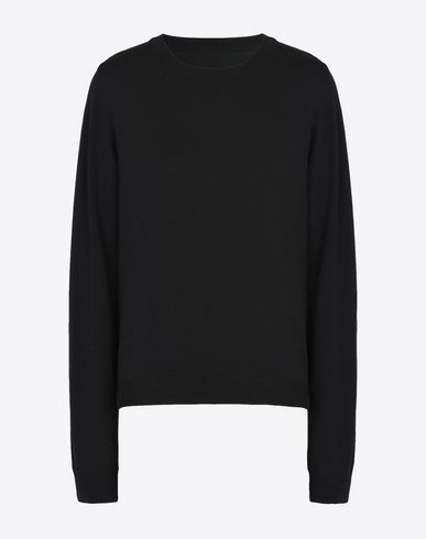 MAISON MARGIELA Long sleeve sweater D Cotton sweater with elbow patches f
