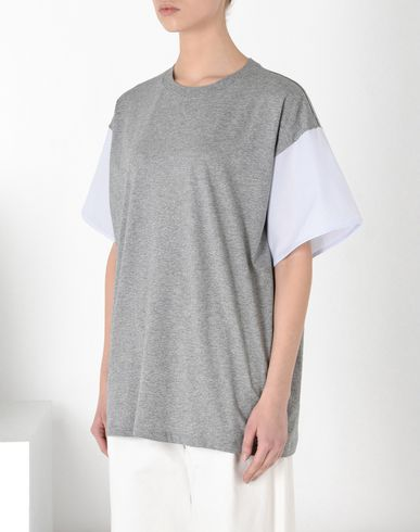 MM6 MAISON MARGIELA Short sleeve t-shirt D T-shirt with poplin sleeves f