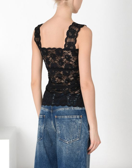 MM6 MAISON MARGIELA Stretch lace bandeau top Top Woman d