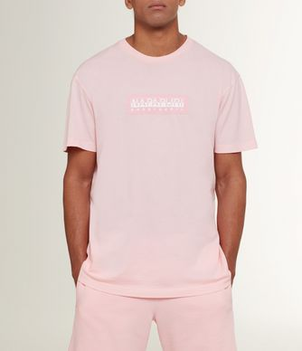 NAPAPIJRI SIMBAI MAN SHORT SLEEVE T-SHIRT,LIGHT PINK