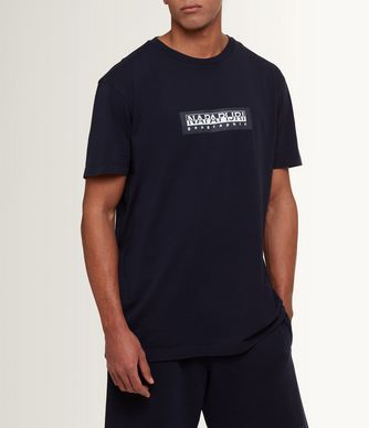 NAPAPIJRI SIMBAI MAN SHORT SLEEVE T-SHIRT,DARK BLUE