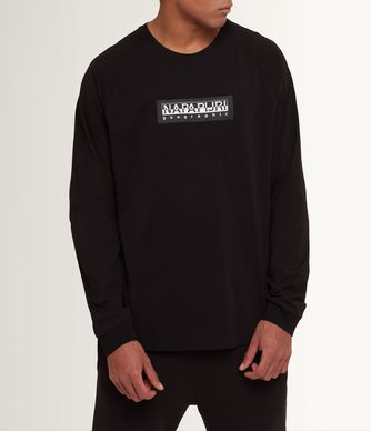 NAPAPIJRI SIMMY MAN LONG SLEEVE T-SHIRT,BLACK
