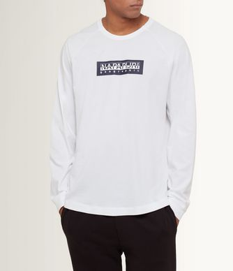 NAPAPIJRI SIMMY MAN LONG SLEEVE T-SHIRT,BRIGHT WHITE