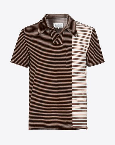 MAISON MARGIELA Polo shirt U Mixed stripe polo shirt f
