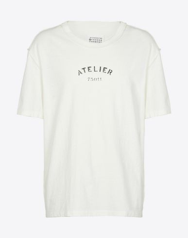 MAISON MARGIELA Short sleeve t-shirt U Atelier cotton jersey T-shirt f