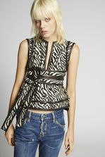 DSQUARED2 Zebra Jacquard Belted Top Top Woman