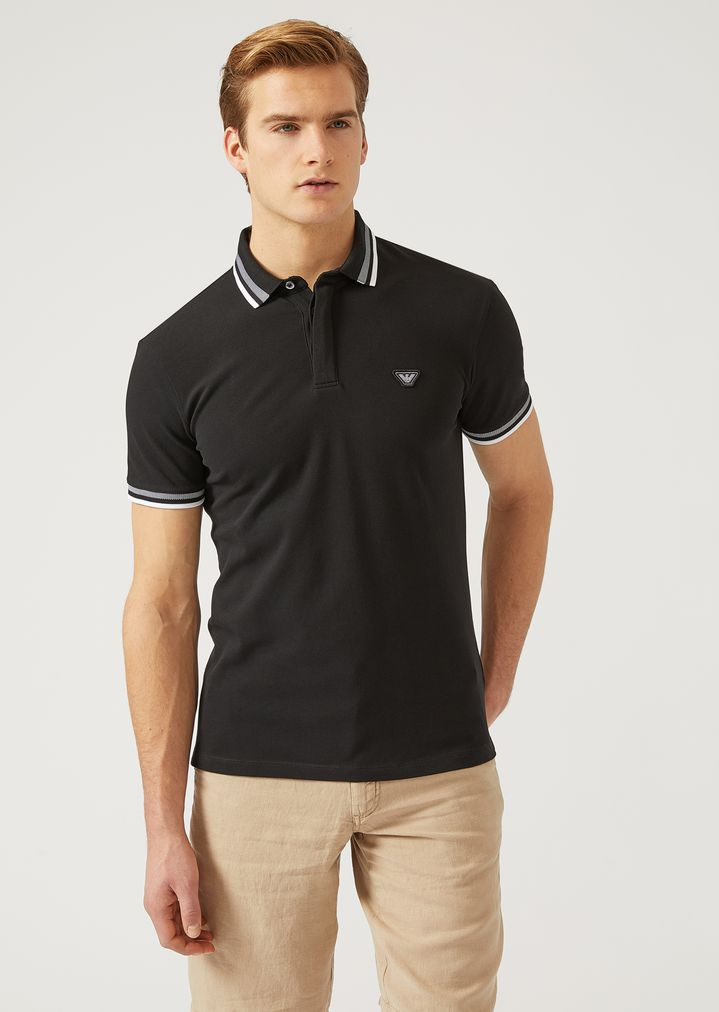 0a992d5866 POLO SHIRT IN STRETCH COTTON JERSEY | Man | Emporio Armani