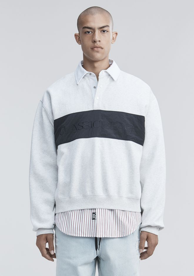 ALEXANDER WANG new-arrivals FLEECE POLO SHIRT