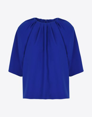 MAISON MARGIELA Top D Cady top with gathered collar f