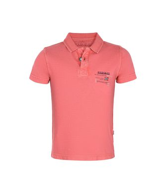 NAPAPIJRI K EGEGIK KID SHORT SLEEVE POLO,CORAL