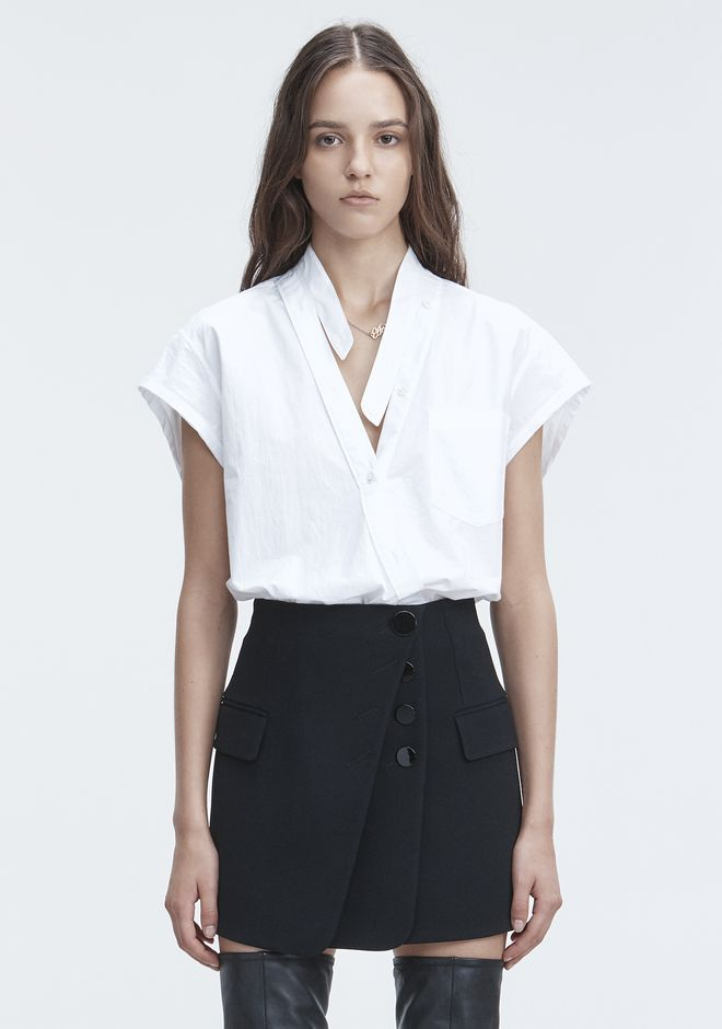 T by ALEXANDER WANG 上衣 女士 COTTON POPLIN BODYSUIT