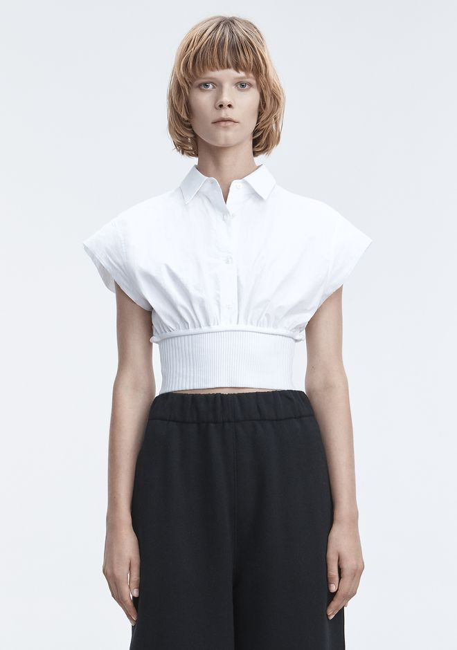 T by ALEXANDER WANG 上衣 女士 WASHED POPLIN TOP