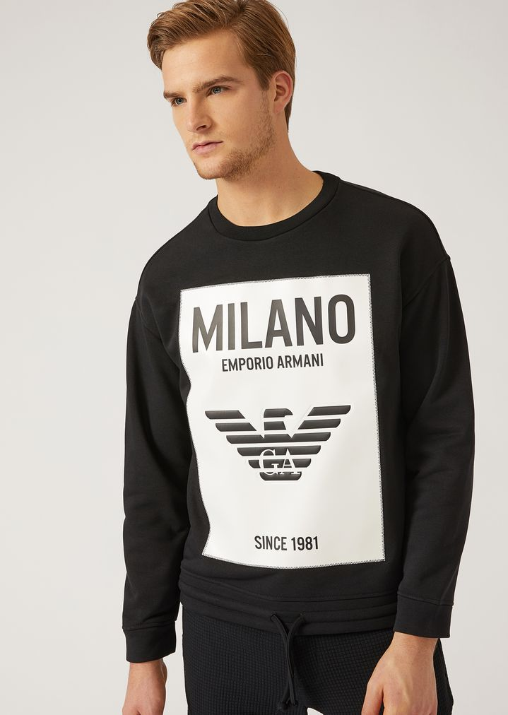 613fd58cd878c SWEAT-SHIRT EN COTON STRETCH   Homme   Emporio Armani