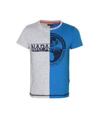 NAPAPIJRI K SIX KID KID SHORT SLEEVE T-SHIRT,AZURE