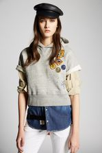 DSQUARED2 Patches Scout Sweatshirt Sweatshirt Woman