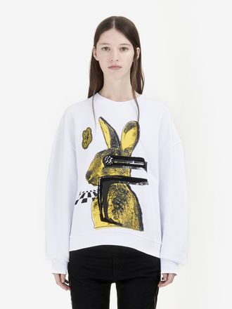 """Glitch Bunny"" Oversized Sweatshirt"