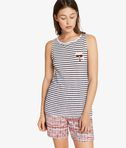 Karl Love Striped Linen Tank