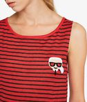 KARL LAGERFELD Karl Love Striped Linen Tank 8_e