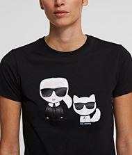 KARL LAGERFELD Karl & Choupette Ikonik T-Shirt  9_f