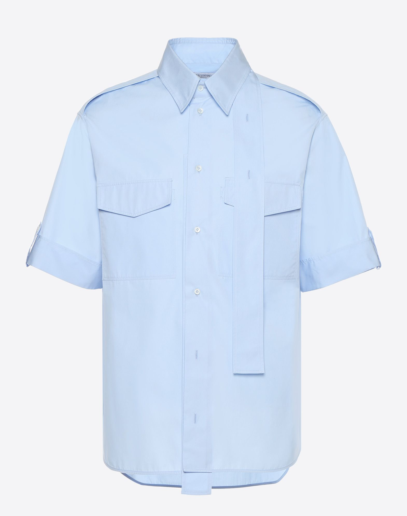 VALENTINO Plain weave Basic solid colour Classic Neckline Two pockets  12142949uu