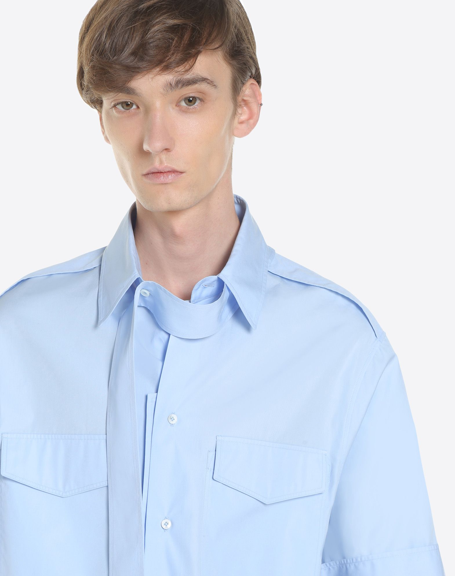 VALENTINO UOMO Short-sleeve couture shirt Shirt & blouse U a