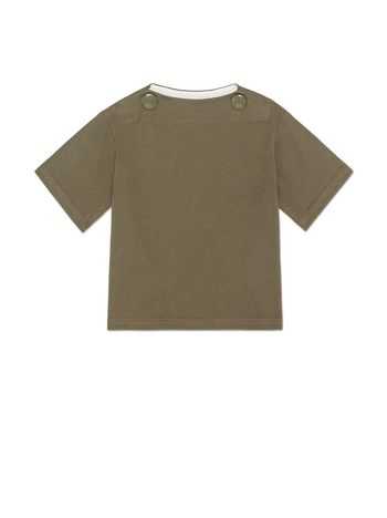 Marni T-SHIRT IN COTTON WITH BUTTONS DETAILS Woman
