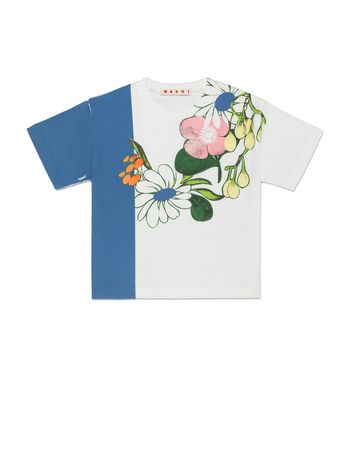 Marni T-SHIRT IN COTTON WITH MADDER FLOWER PRINT Woman
