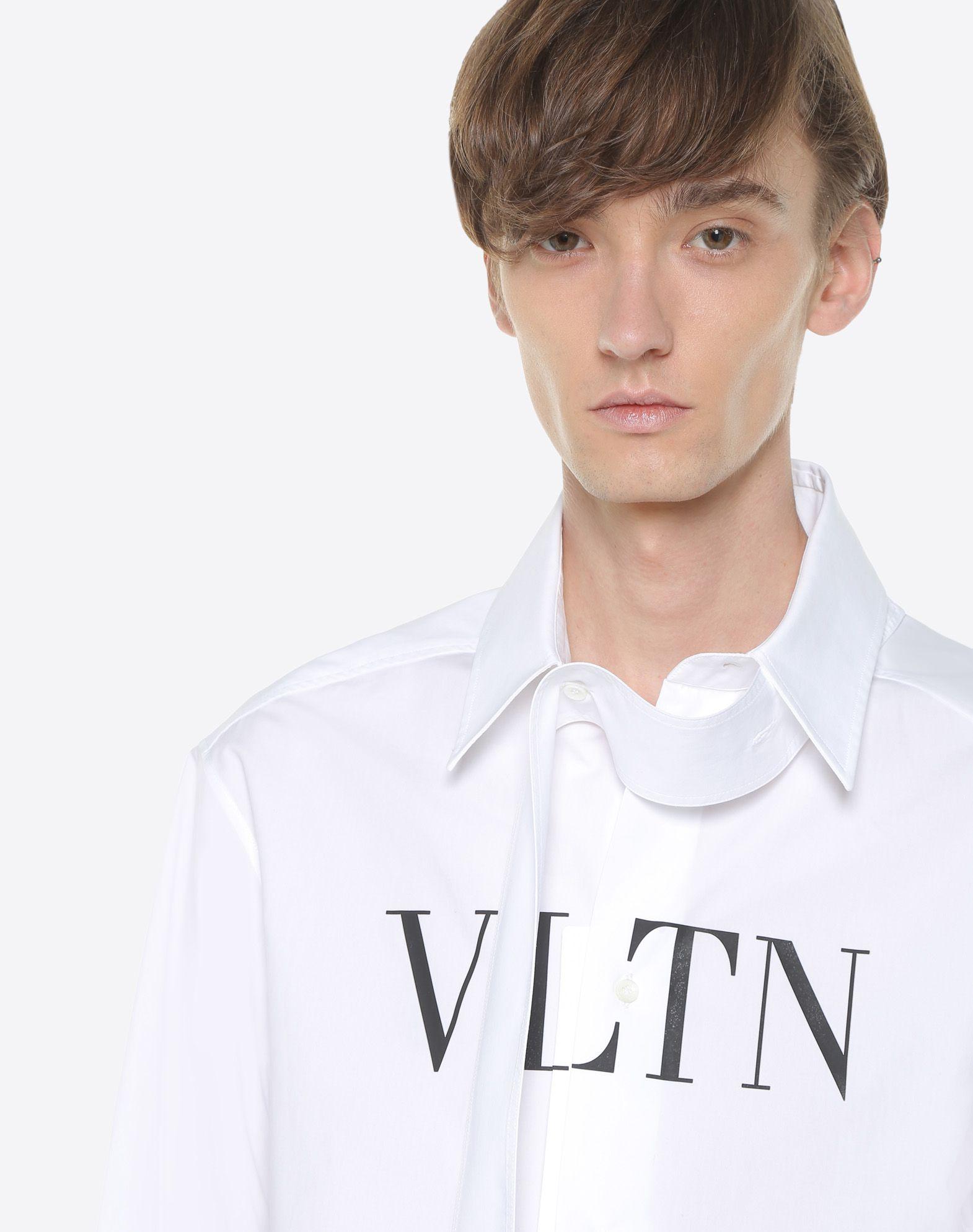 VALENTINO UOMO VLTN shirt with tie collar Shirt U a