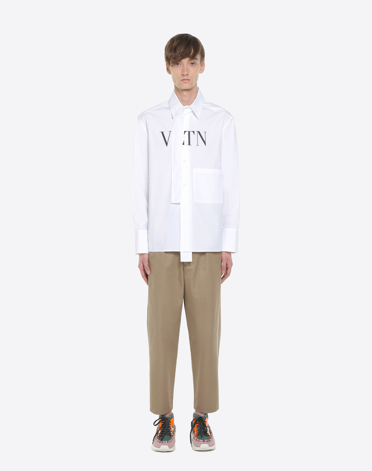 VALENTINO UOMO VLTN shirt with tie collar Shirt U r