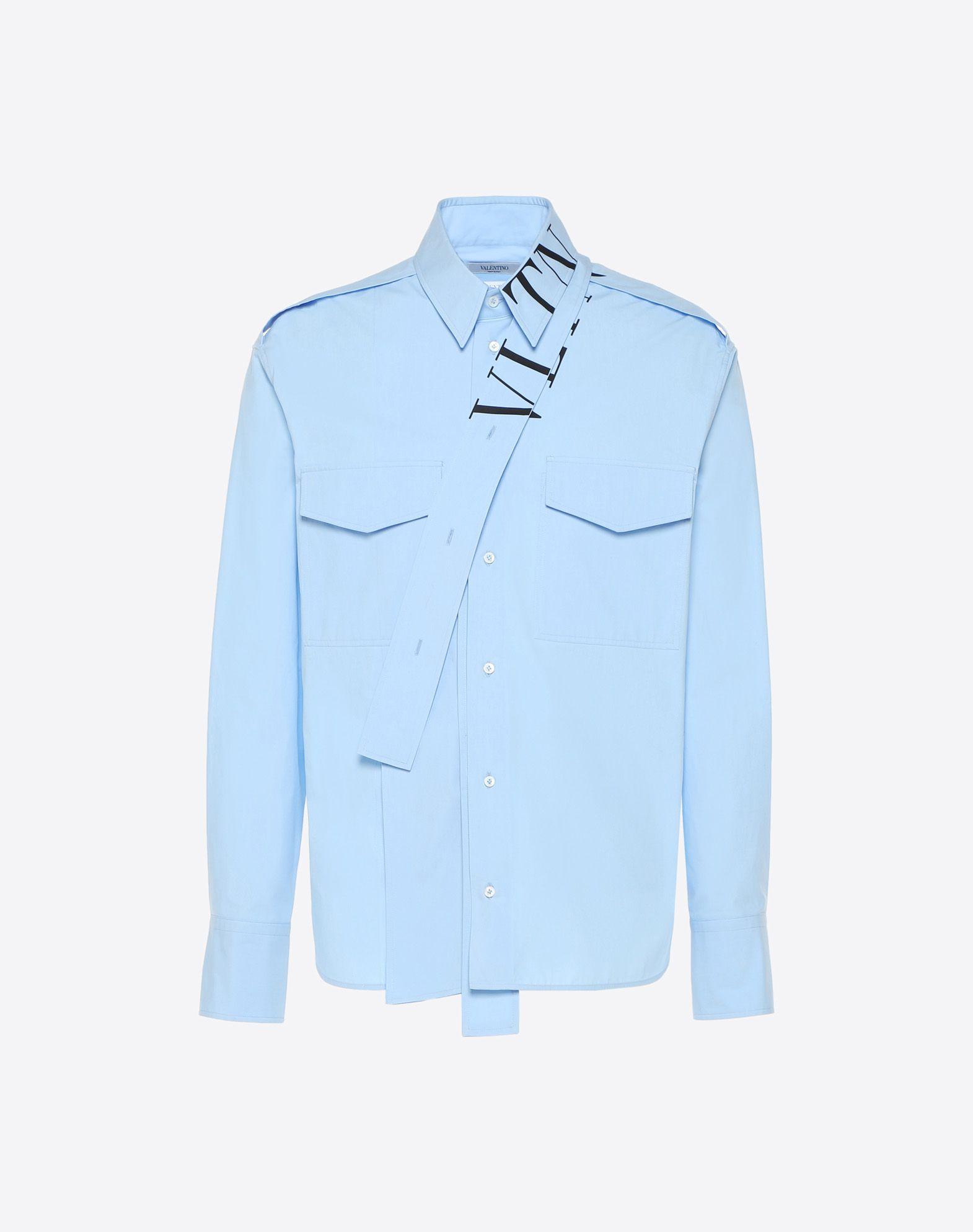 VALENTINO UOMO Camisa VLTN con fular en el cuello Camisa U f