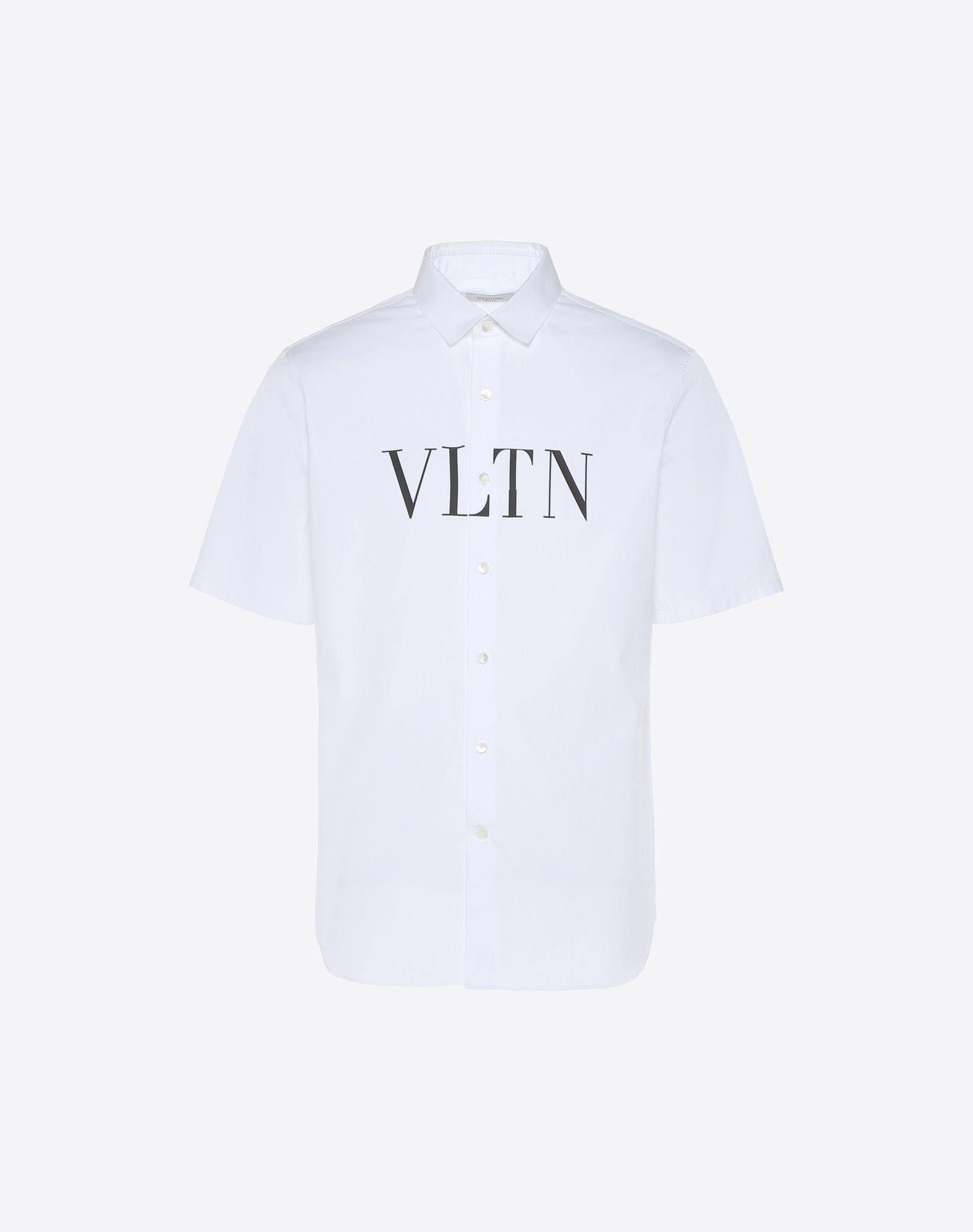 VALENTINO Printed logo Classic Neckline Button closing Poplin  12143134vv