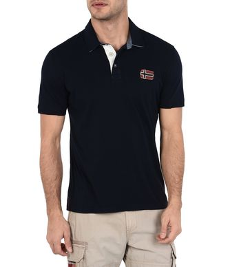NAPAPIJRI ELOTH MAN SHORT SLEEVE POLO,DARK BLUE