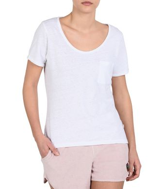 NAPAPIJRI SYLVANIA WOMAN SHORT SLEEVE T-SHIRT,WHITE