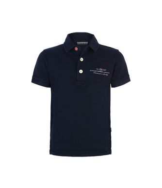 NAPAPIJRI K ELBAS KID KID SHORT SLEEVE POLO,DARK BLUE