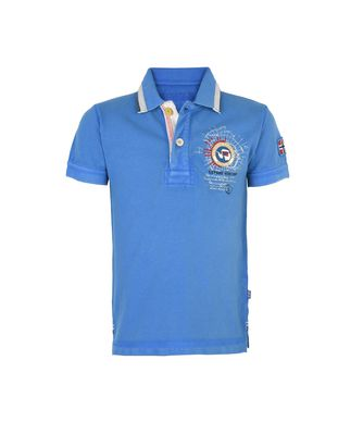 NAPAPIJRI K GANDY KID KID SHORT SLEEVE POLO,AZURE