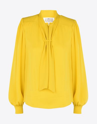 MAISON MARGIELA Top D Silk blouse with bow collar f