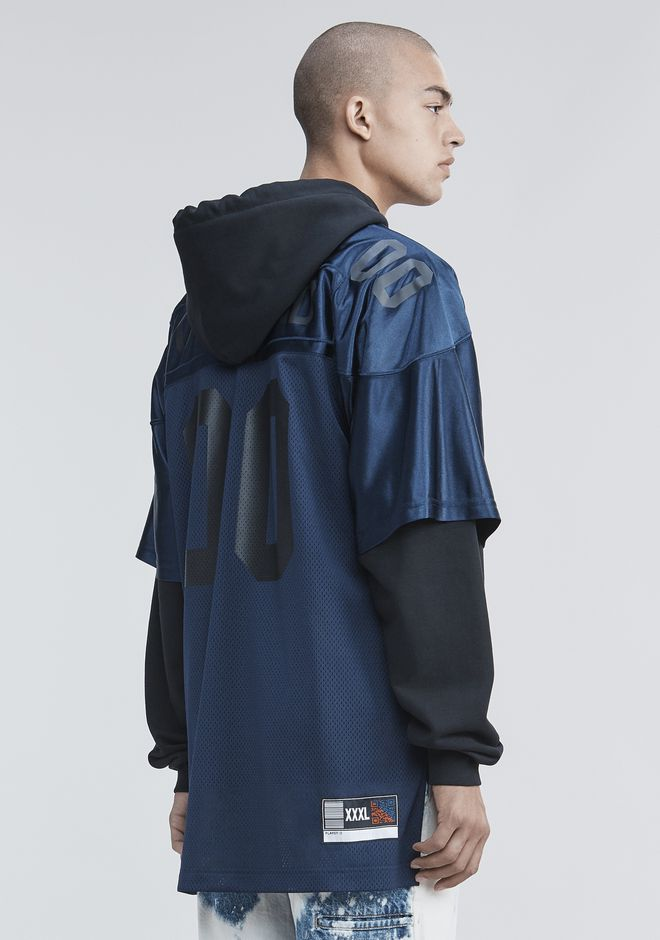 ALEXANDER WANG new-arrivals FOOTBALL HYBRID HOODIE