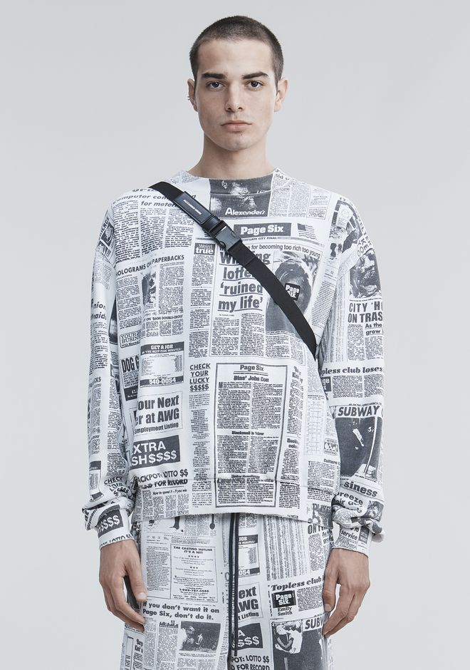 ALEXANDER WANG new-arrivals PAGE SIX NEWSPAPER SWEATSHIRT