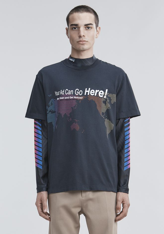 """ALEXANDER WANG TOPS Men """"YOUR AD CAN GO HERE"""" T-SHIRT"""