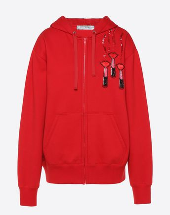 VALENTINO Sweatshirt D Sweatshirt with Valentino and Lipstick embroidery f