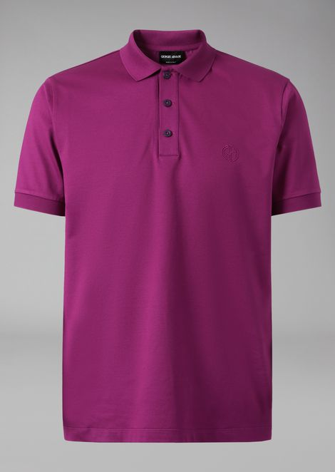 Polo shirt in stretch jersey