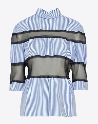 MAISON MARGIELA Top D Cut-out stripe cotton shirt f