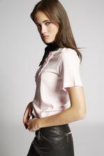 DSQUARED2 Ruffled Cotton T-Shirt Short sleeve t-shirt Woman