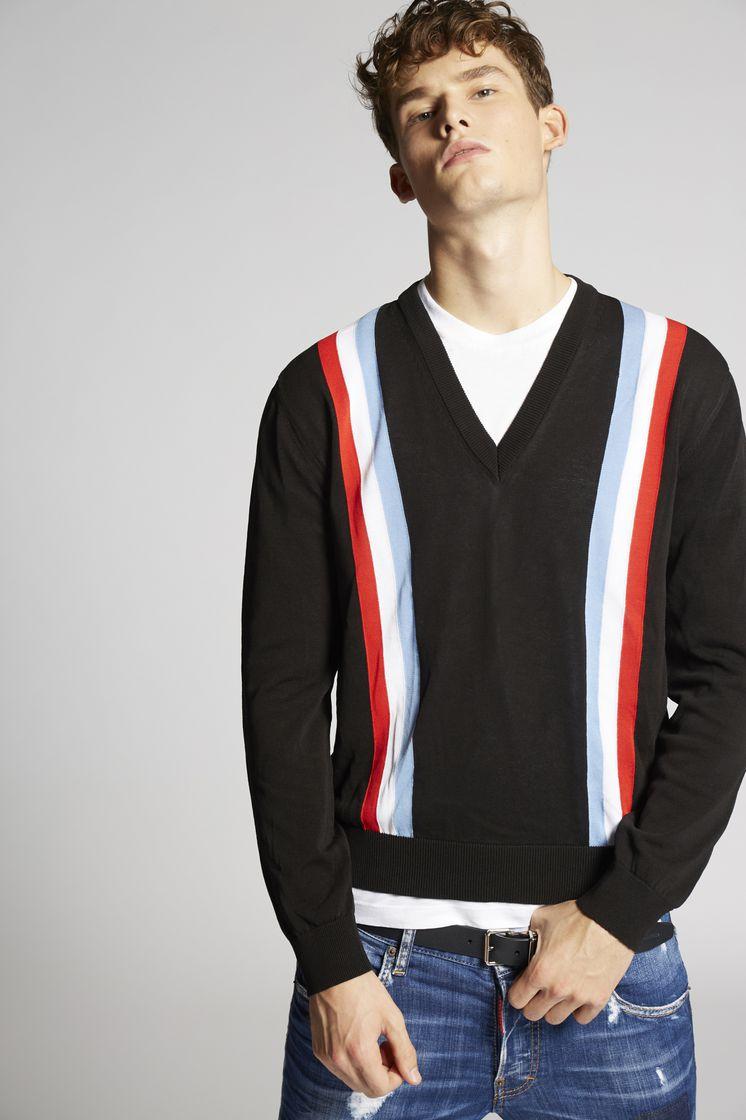 DSQUARED2 Striped Cotton Pullover  Pullover Man