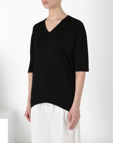 MM6 MAISON MARGIELA Oversized V-neck T-shirt Short sleeve t-shirt D f