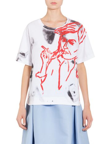 Marni T-shirt in jersey by David Salle Donna