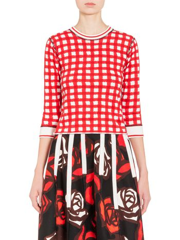 Marni T-shirt in jersey with Ingrid print Woman